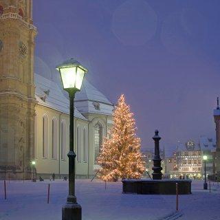Karte: Weihnachtsbaum Kloster St.Gallen