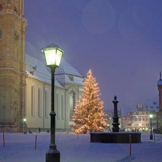 Faltkarten: Weihnachtsbaum Kloster St.Gallen