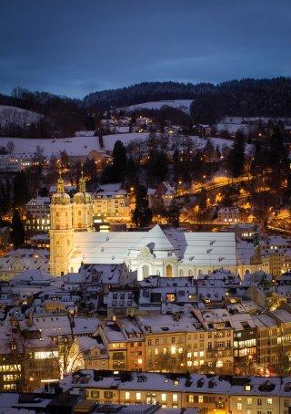 Faltkarten: Blick vom Rosenberg aufs Kloster St.Gallen