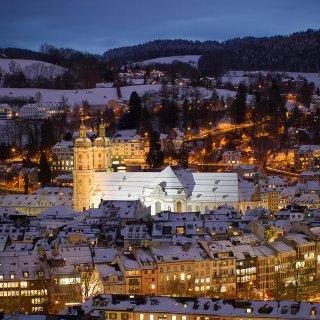 Faltkarten: Kloster St.Gallen vom Rosenberg
