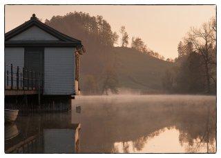 Postkarte: Wenigerweiher im Morgenlicht