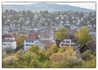 Postkarte: Blick über die Stadt St.Gallen