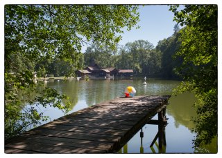 Postkarte: Sommer im Familienbad Dreiweihern