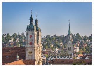 Postkarte: Kirchtürme von St.Gallen