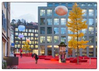 Postkarte: Herbst beim roten Platz
