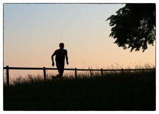 Postkarte: Dreiweihern - erste Joggingrunde