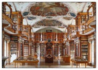 Postkarte: Stiftsbibliothek St.Gallen