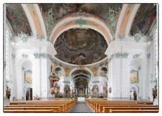 Postkarte: Innenraum der Kathedrale St.Gallen