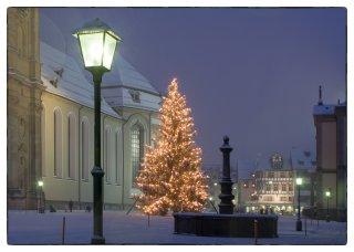 Postkarte: Weihnachtsbaum Kloster St.Gallen