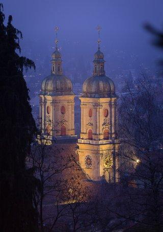 Faltkarten: Blick aufs Kloster St.Gallen