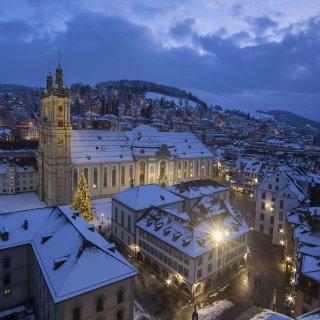 Karte: Kathedrale St.Gallen im Winter