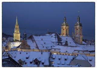 Postkarte: Blick über die Dächer von St.Gallen