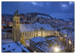 Postkarte: Kathedrale St.Gallen im Winter
