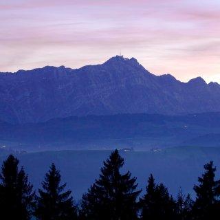 Faltkarten: Blick von der Waldegg auf den Säntis