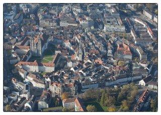 Postkarte: St.Gallen von oben