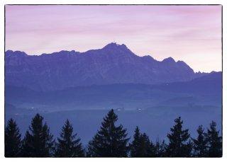Postkarte: Blick von der Waldegg auf den Säntis