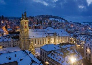 Faltkarte: Blick aufs Kloster St.Gallen vom St.Laurenzen Turm
