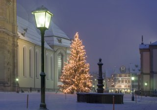 Faltkarte: Weihnachtbaum Kloster St.Gallen