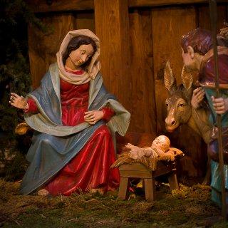 Weihnachtskarte: Weihnachtskrippe Kloster St.Gallen