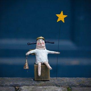 Weihnachtskarte: Sternbringer