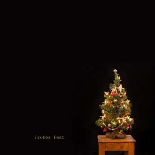 Weihnachtskarte: Weihnachtsbaum - Frohes Fest